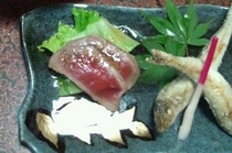 季節の焼き魚と新潟和牛盛り合わせ