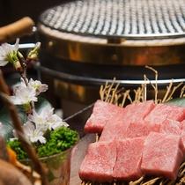 【☆食事☆】ブランド牛「飛騨牛」の肉厚なステーキを炭火焼きでお楽しみ下さい