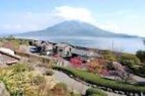 名所 仙巌園と桜島