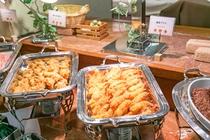 【朝食】温もの料理☆エビフライ♪