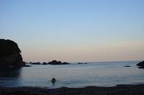 明丸海岸 夕暮れ