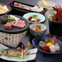 飛騨牛陶板焼き会席(ご夕食一例)