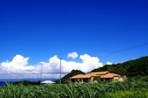 沖縄の小さな島にひっそりと佇む。