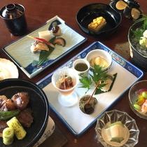 *敦賀の旬の味覚を、和洋中の味覚に仕上げた御食国海産美味揃えのメニュー♪