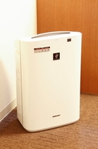 加湿空気清浄機を全室設置