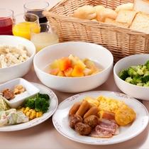 【朝食和洋バイキング】洋食一例