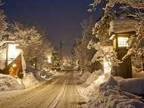 福地温泉 冬景色