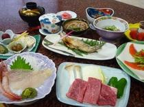 『奥飛騨郷土料理』 夕食一例