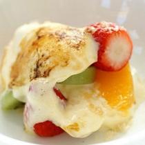 *【夕食例】見た目にも可愛らしい♪美味しいデザートを食後にどうぞ!