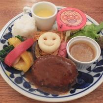 【幼児用ディナー一例】ハンバーグ、コーンスープ、スパゲッティなどお子様が喜ぶメニューがたくさん♪
