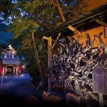 日本一の。。。巨大な平家神代杉根(推定樹齢 約1200年)が、お客様をお迎えしています。。。