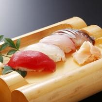 *【2016年4月~握り寿司(一例)】寿司は鮮度が決め手!ライブキッチンでご提供いたします。