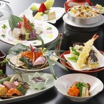 *【2016年4月~満喫プラン】天ぷらのライブキッチンも愉しめるスタンダードコース。