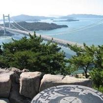 鷲羽山から見る瀬戸大橋