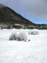 赤城大沼の氷上ワカサギ釣り