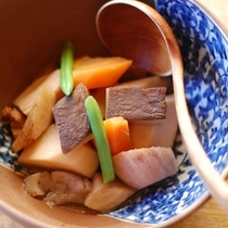 【夕食】優しい味の煮物/例