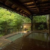 【露天風呂】自然と清流の音に包まれる露天です