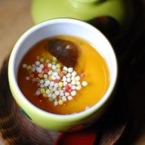 【夕食】季節の茶碗蒸し/例
