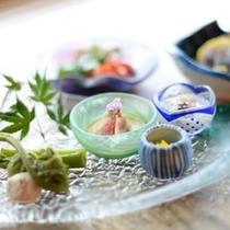 【夕食】 季節を愉しむ前菜