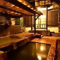 【大浴場の露天風呂】大浴場は朝晩で男女入れ替えです
