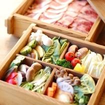 【夕食】季節野菜のセイロ蒸し