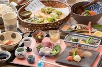 【夕食】 季節を目でも舌でも愉しめる夕食/例