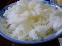 朝食 自慢の白米