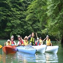 板室ダム湖でカヌー体験