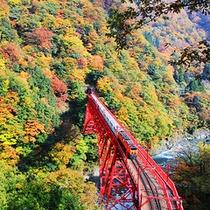 秋の黒部峡谷