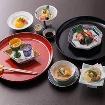 【日帰り】お食事&温泉プラン〜五菜「水音懐石」(一例)