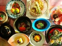 2013年10月雅の舞料理の一例