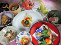 10月雅びの舞プランのお料理の一例
