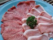 山形県産牛と豚のお肉