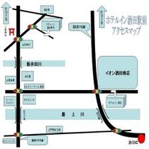 ホテルイン酒田駅前へのアクセス