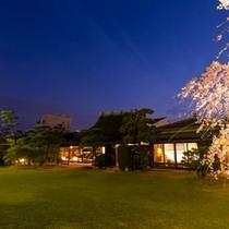 庭園 夕景