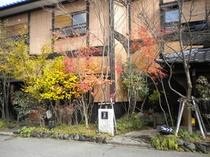 玄関付近 秋紅葉