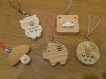 上野村森林組合製作の可愛らしい木製ストラップ♪