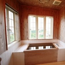 檜の香りと窓からの絶景に癒されます