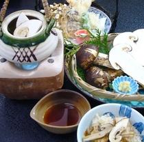 松茸懐石プラン料理