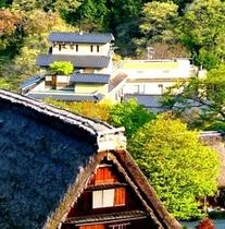 合掌村と水鳳園