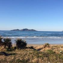 *海(3月撮影)絶景の景色を見ながらのウォーキングをお愉しみくださいませ♪