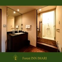 和室8畳 シャワー付の洗面周辺