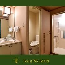 和室8畳 風呂付(新館)風呂&洗面