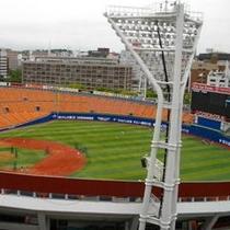 目の前が横浜スタジアムです!