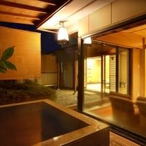 露天風呂付和室★12畳+6畳+応接室+坪庭