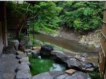 美しい新緑を眺めながら。自慢の美人湯をお楽しみください。