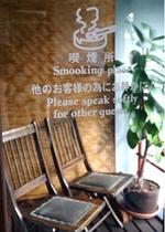 二階、洗面室横の喫煙スポット