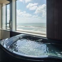 展望風呂付和洋室 展望風呂より