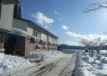 レイクサイド外観(冬1)