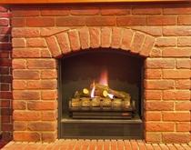 ホールにある暖炉